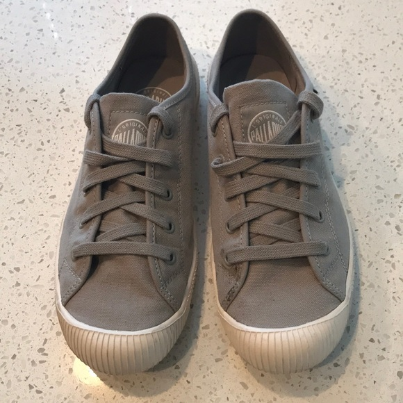 5635e13cc7 Palladium Shoes | Light Grey Womens Sneakers Size 8 | Poshmark